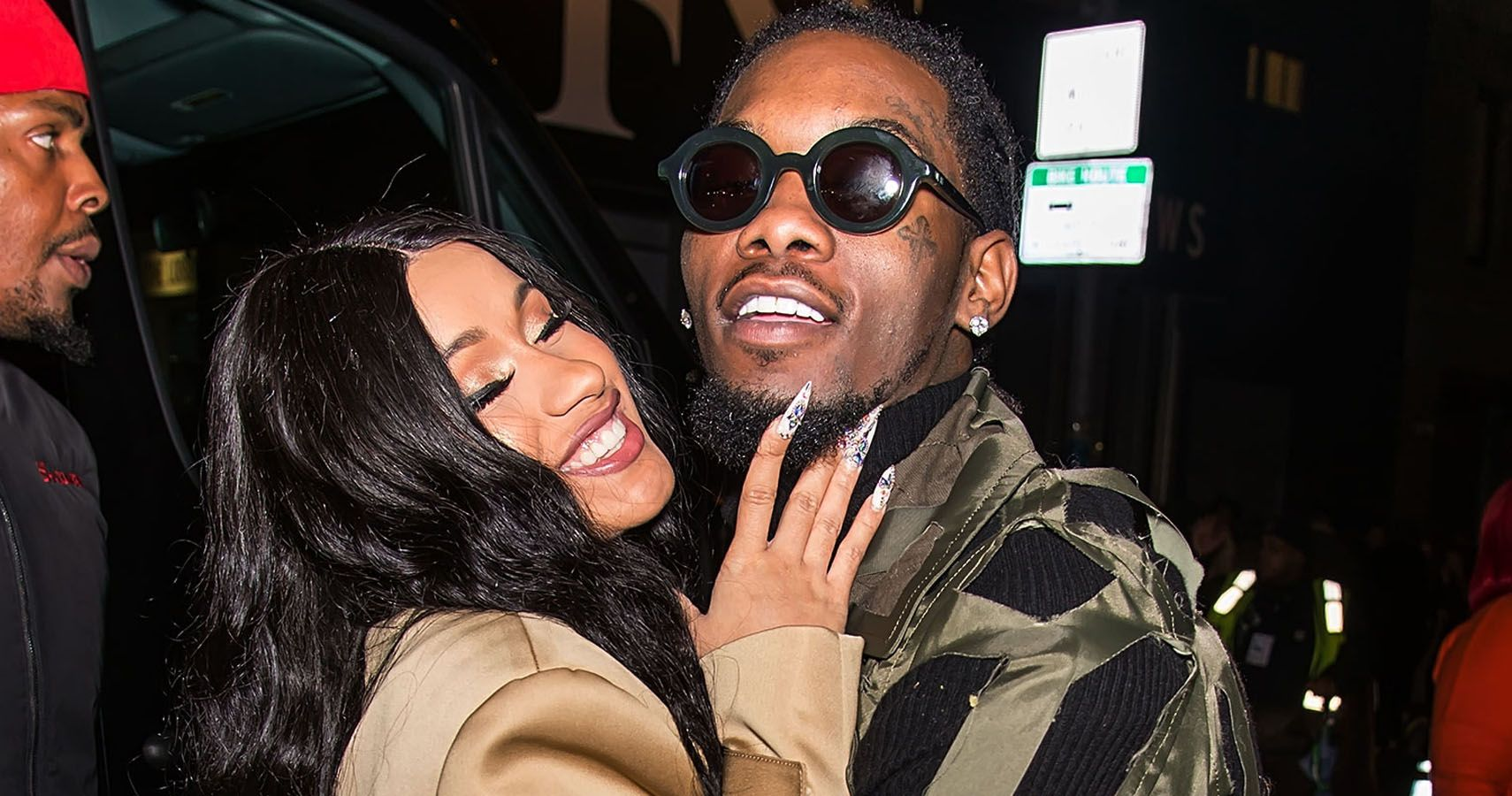 60867963228b Cardi B s Birthday Outfit Looked Stunning In NYC (And Offset Didn t Look  Too Shabby Either)